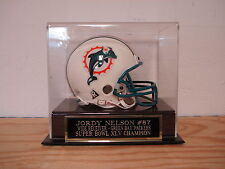 Football Mini Helmet Display Case With A Jordy Nelson Packers Engraved Nameplate