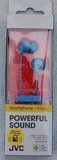 JVC HA-FR15-LA-E Wired In-Ear Headphone Light Blue 1-Button Remote Control & Mic