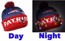 NFL New England Patriots Big Logo Camoflage 2017 Light Up Beanie