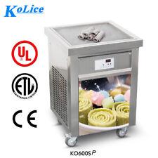 New ListingEtl 20'(50cm) Single square pan fried ice cream machine roll ice cream machine
