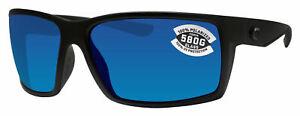Costa Del Mar RFT01OBMGLP Reefton Polarized Blackout Blue Mirror 580G Sunglasses
