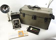 Graflex Super Speed Graphic Camera Kit w/135mm Optar Lens w/Original Case V4192