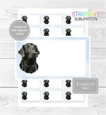 Flatcoated Retriever Dog 42 Multi-Purpose Stickers For Address Labels/Gift Tags