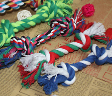 2 X Dog Pet Chew Toy with Knot Fun Tough Strong Puppy Tug War Play Cotton Rope