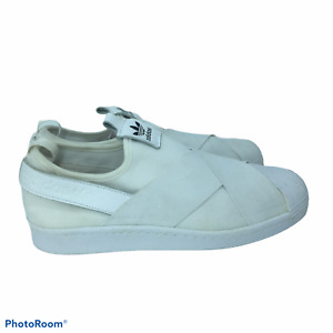 Adidas 9M Superstar Slip-On White Womens Sneakers (W) - S81338