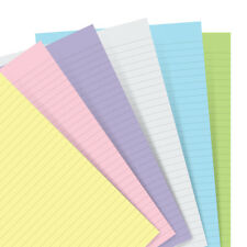 NEW Filofax Ruled Paper A5 Notebook Refill Pastel 60pce