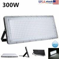300W LED Flood Light Cool White Spotlight Garden Outdoor Lighting Waterproof