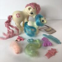 1980's Vintage My Little Pony Sundance & Baby Sleepy Pie with Hair Accessories