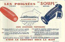 Publicité cyclisme moto cycling bicyclette bicycle industrie poignées SOUPL 1949