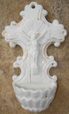 -Bénitier Porcelaine Vieux Paris Fin XIX ème Holy Water Font