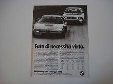 advertising Pubblicità 1980 BMW M1 e M 535 i