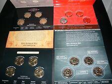 2010,2011,2012,2013 Australia Mintmark Pack (4) BU-- M S B C 4 coins set