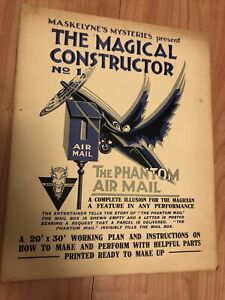 Maskelyne Mysteries Magical Constructor Number 1 Phantom Air Mail Trick Magic