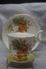 Rayford's Bone China Demitasse Cup and Saucer - Autumn Leaves - Gold Rimmed