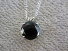NATURAL BLACK DIAMOND 5.50 ct REAL NECKLACE/PENDANT WITH CHAIN
