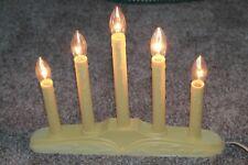 Vintage NOMA 5-Candle Light Candolier Christmas Window Ivory  Holly Base