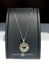 CHARLES KRYPELL  IVY LACE DESIGN NECKLACE IN SILVER AND 18K YELLOW GOLD