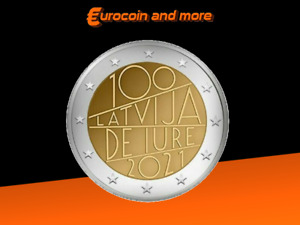 2 Euro Lettland 2021 100Jahre Latvia De Jure unc. VVK