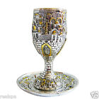 Kiddush Cup Wine Goblet Silver 925 Electroforming, gold plated inside, Judaica