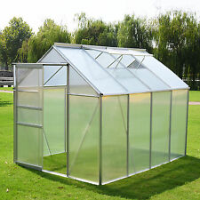 82x62ft greenhouse aluminum frame all weather walk in heavy duty polycarbonate