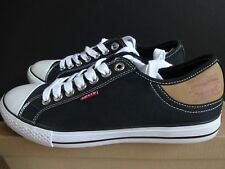 Levi's Stan Buck Black Canvas Upper Low Top Sneakers size 9