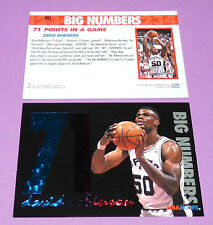 BIG NUMBERS 71 DAVID ROBINSON SPURS SAN ANTONIO SKYBOX 1994 NBA BASKETBALL CARD