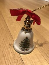 Christmas Ornament Spode Christmas Tree 2003 Annual Bell Snowman Ornament