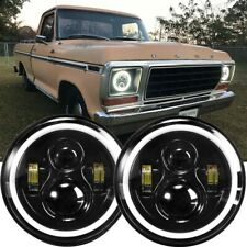 2x 7 Inch Round Projector Led Headlights Drl For Ford F 100 F 150 F 250 F 350 Fits More Than One Vehicle