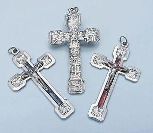 Way / Stations of the Cross Enamelled Crucifix Cross Italian