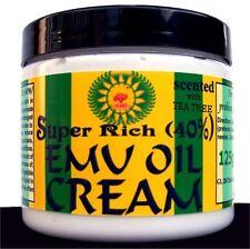 SUPER RICH Emu Oil Cream~~40%~~scented with Tea Tree Oil – 125g / 4.4oz