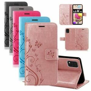 LG Handy Tasche Handyhülle Wallet Schutz Hülle Blumen Flip Cover Buch Case Etui