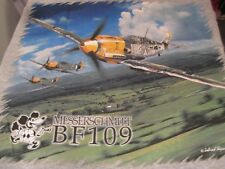 MESSERSCHMITT BF109 GRAPHIC MILITARY AIRPLANE TEE SHIRT - 'M' SIZE