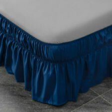 Bed Skirt - King Size Dust Ruffle Wrap Around Bed 16""