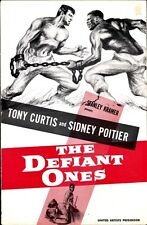 THE DEFIANT ONES pressbook, Tony Curtis, Sidney Poitier, Lon Cheney King Donovan
