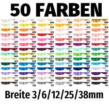 Dekoband 91m / 32m Satinband 3/6/12/25/38mm Geschenkband Schleifenband Hochzeit