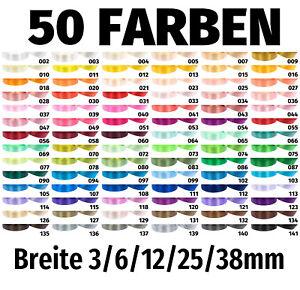 Schleifenband Dekoband 91m / 32m Satinband 3/6/12/25/38mm Geschenkband Hochzeit