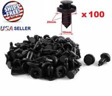 100 Pcs Bumper Clips 10mm Hood Fender Push Rivets Retainer Fasteners for Honda