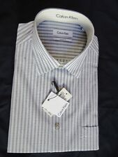 CK Calvin Klein Mens Dress Shirt Size 16 32-33 Regular Fit Plaid NEW W/TAG$59.95