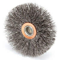 Crimped Wire Wheel Brush,Stem,3 In. 93129