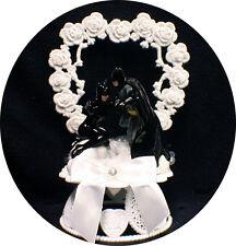 SEXY  BATMAN & CATWOMEN  D.C. Comic Wedding Cake Topper Super Hero groom top