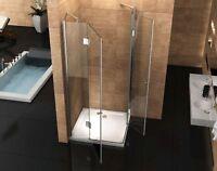 Duschkabine Eckeinstieg 120x80 cm   Duschabtrennung  Duschwand   Walk in Dusche