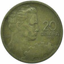 COIN / YUGOSLAVIA / 20 DINAR 1955 BEAUTIFUL COLLECTIBLE  #WT29993