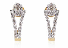 Pave 0.72 Cts Round Brilliant Cut Natural Diamonds Stud Earrings In 14Karat Gold
