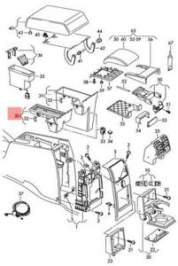 Genuine VW Caddy Touran stowage compartment 1T0858373C9B9