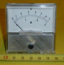 Einbau Anzeige Instrument V + Amp Meter 0 - 7 V / 0 - 3 Amp. f. Philips PE 1542