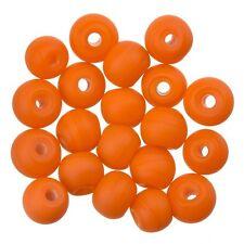 Matt Orange Round Glass Beads 6mm Pack of 20 (A30/7)