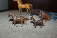 Pretend play lot of plastic horses variety lot of 11