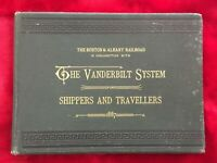 1897 THE BOSTON & ALBANY RAILROAD - VANDERBILT SYSTEM FOR SHIPPERS & TRAVELLERS
