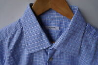 Pal Zileri Shirt XL (Size 17) Light Blue Check