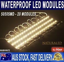 20x 12V Waterproof LED Strip Module Lights Warm White For Car Boat Caravan Camp